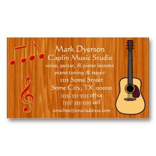 Music Business Card  Guitar
