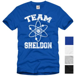 TEAM SHELDON T Shirt The Big Bang Theory Vintage Cooper Comic College