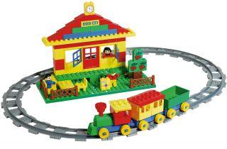 BIG Spielzeug Eisenbahn Lego Duplo Komp 93 Bausteine