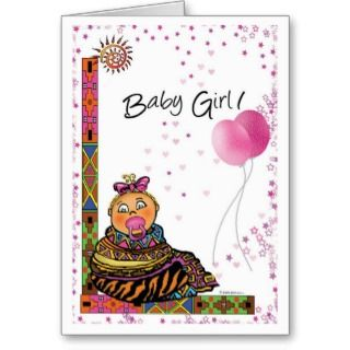 African American Girl Birthday Greeting Cards, Note Cards and African