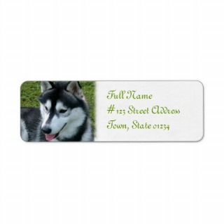 Siberian Husky Dog Return Address Label