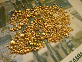 45 Gramm Schmelzperlen PC Gold (Bruchgold, Altgold, Nuggets, Zahngold