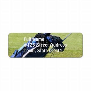 Golf Bag Mailing Label