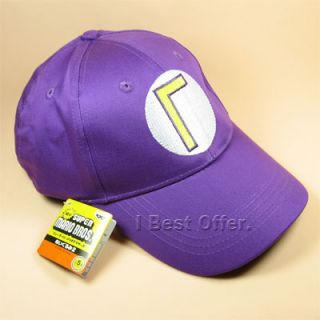 Super Mario Bros Anime Cosplay Baseball Hat Waluigi Cap