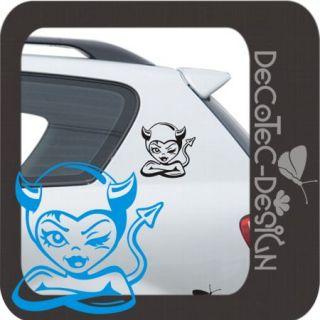 A106 2er SET Bad Girl Teufelchen Aufkleber Auto Sticker