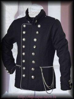 Steampunk Jacke Byron Viktorianisch Military Uniform Gothic schwarz S