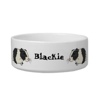 Cute Cartoon Guinea Pigs Personalized Pet Bowl Cat Bowl