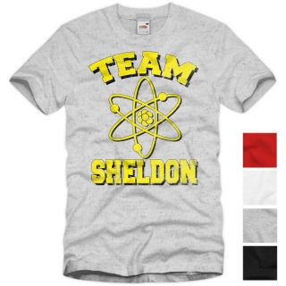 TEAM SHELDON The Big Bang Theory Vintage T Shirt Cooper Comic TV Serie