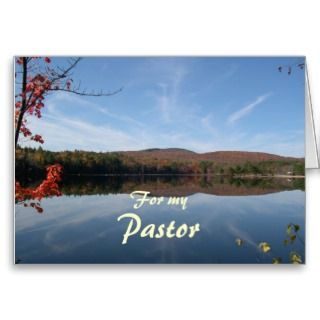Cloudburst Pastor Appreciation Greeting Card