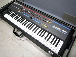 ROLAND Juno 106 Vintage Analog Synthesizer w Hard Case WORKING Juno106