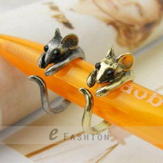 Maus Style Damen 1 Paar Ringe Ratte Fingerring NEU 102 0090