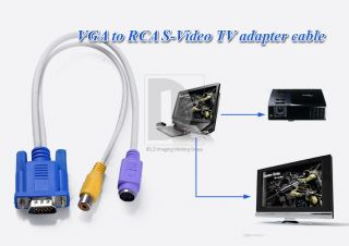 VGA SVGA Male AUF to S VIDEO RCA TV Video PC AV Converter Cable Kabel