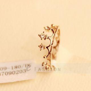 Ring Strass Krone Style Ringe Damen Fingerring NEU 102 0088