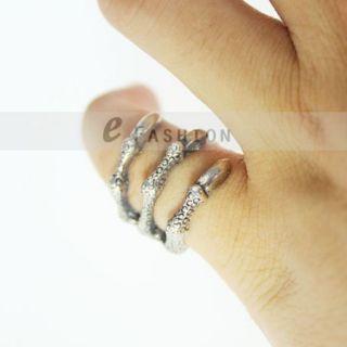 Kralle Style Ringe Damen Herren Retro Fingerring NEU 102 0226