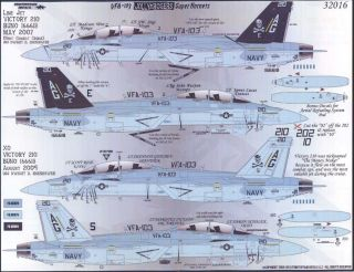 Fightertown Decals 1/32 F/A 18F SUPER HORNET VFA 103 JOLLY ROGERS