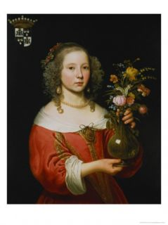 Portrait of a Young Girl Giclee Print by Abraham van den Tempel