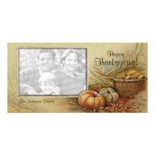 Tarjeta de la foto de la acción de gracias del vin tarjeta