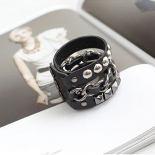 Korea Star Accessories SHINee St. Mixed Leather Bracelet (MADC111