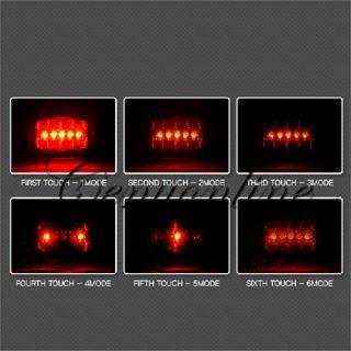 LED 6 Modi Fahrrad Motorrad Sicherheit Rücklicht licht Leuchte