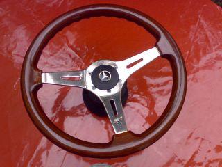 Retro Holzlenkrad Sportlenkrad Holz 360mm Mercedes W107 W123 W124 W126