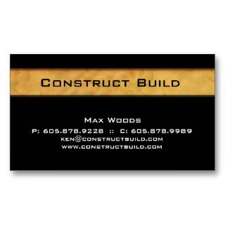 Construction Contractor Business Card Wood Grain 2 business cards by
