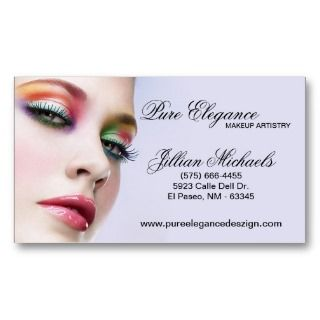 Makeup Artist Make Up Woman Business Card
