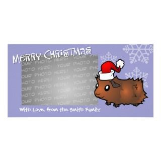 Christmas Guinea Pig (chocolate) Picture Card