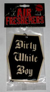 dirty white boy air freshener lufterfrischer punk rock gothic emo