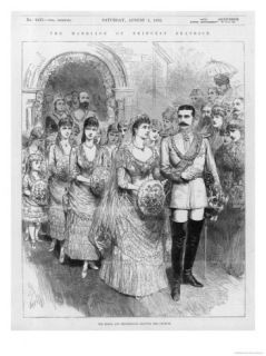 Marriage of Princess Beatrice Youngest Child of Queen Victoria to Prince Henry of Battenburg Giclee Print
