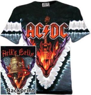 AC/DC   Hells Bells (Batik Shirt, Farbe grau schwarz)