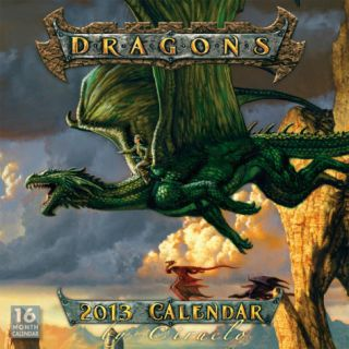 Dragons by Ciruelo   2013 16 Month Calendar Calendars
