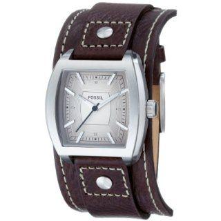 Fossil Herren Armbanduhr Analog Leder braun Trend JR1190