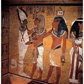 Kunstreproduktion: Ägyptische Malerei Tut anch Amun und Osiris