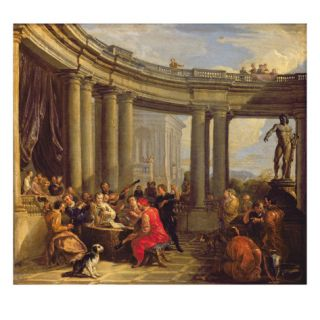 Concert in a Circular Gallery, C.1718 19 (Oil on Canvas) Giclee Print by Giovanni Paolo Pannini or Panini