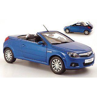 Opel Tigra TwinTop, met. blau/silber, Modellauto, Fertigmodell, Norev