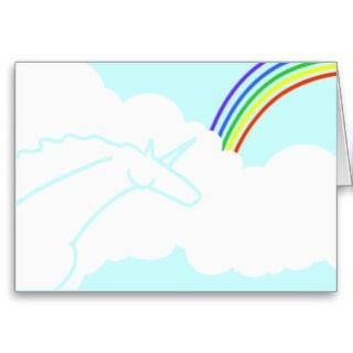 and Rainbows Birthday Party Invitation Greeting Cards