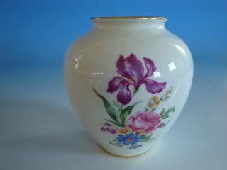 0412A1 129 Bavaria Vase Porzellan Deutsche Blume