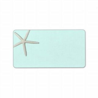 Starfish, Pale Mint Printable Address Labels