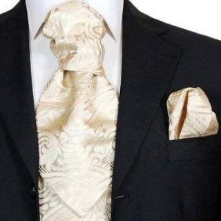 Krawattenschal Set 2tlg champagner zum selber binden +Plastron