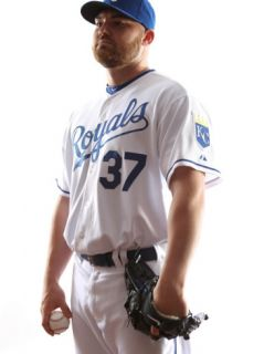 Kansas City Royals Photo Day, SURPRISE, AZ   FEBRUARY 23: Sean OSullivan Photographic Print by Jonathan Ferrey