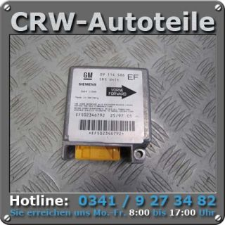 Airbag Steuergerät 09114586 Opel Tigra A