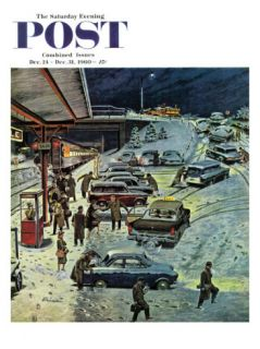 Commuter Station Snowed In, Saturday Evening Post Cover, December 24, 1960 Giclee Print by Ben Kimberly Prins