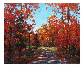 Autumn Walk in the Hudson Valley Giclee Print by Patty Baker at