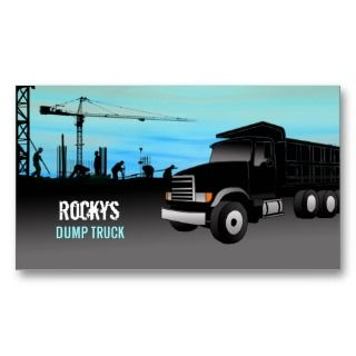 Dump Truck Business Cards