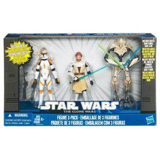 Star Wars Clone Wars 3 Figuren Obi Wan Kenobi / Klon Kommandant Cody