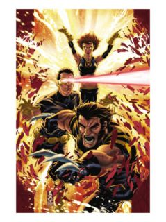 Ultimatum X Men Requiem #1 Cover Wolverine, Cyclops, Grey and Jean Prints by Mark Brooks