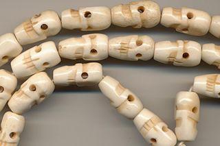 Mala Skull Knochenkette Totenkopf GebetsketteTibet 139