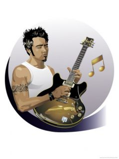 Male Guitarist Prints
