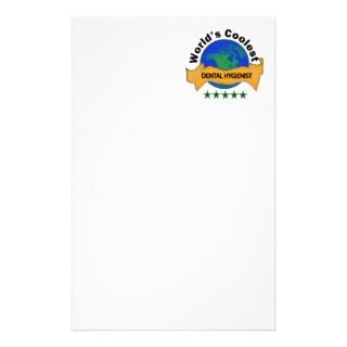 Worlds Coolest Dental Hygienist Customized Stationery