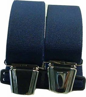Hosenträger mit 4 Clips uni extra lang 130 cm